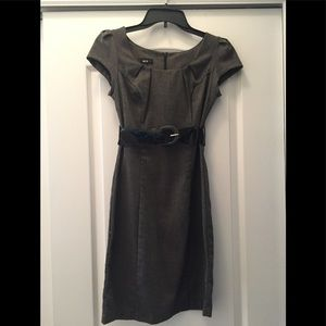 BCX charcoal dress with belt